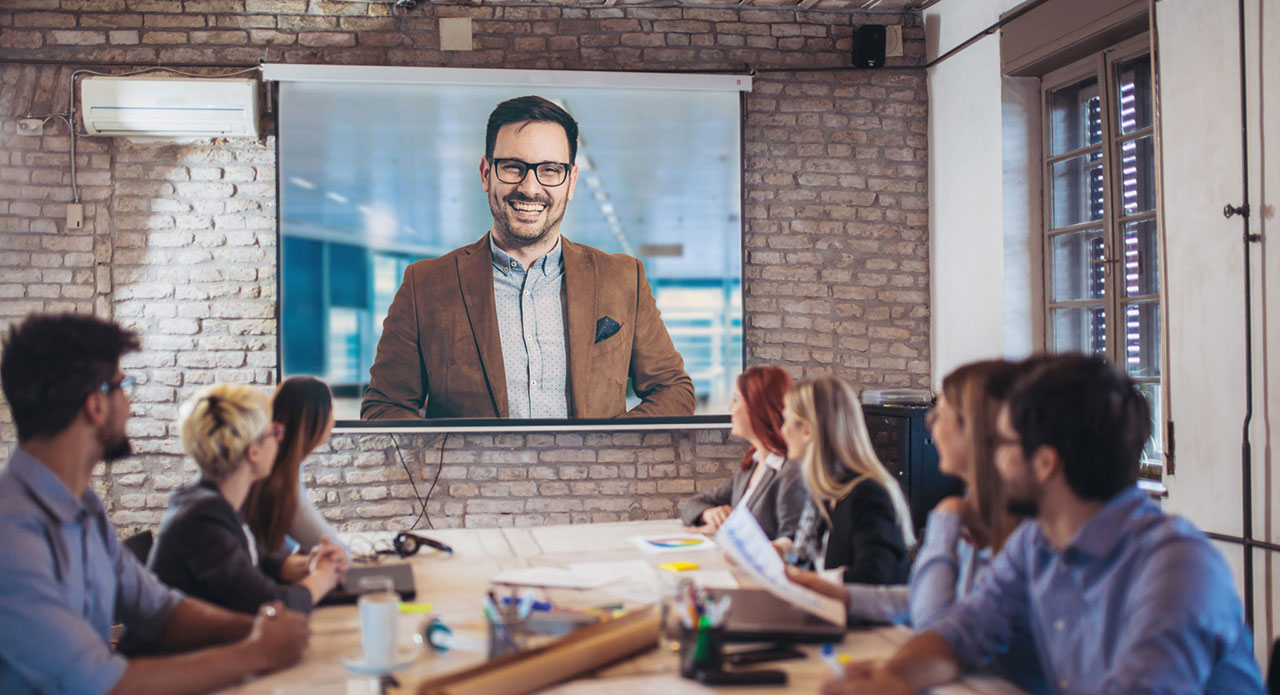 videoconferencia proyector hero